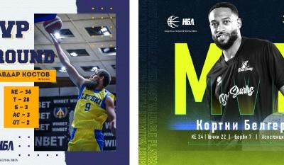 Двама са MVP на първи кръг в НБЛ