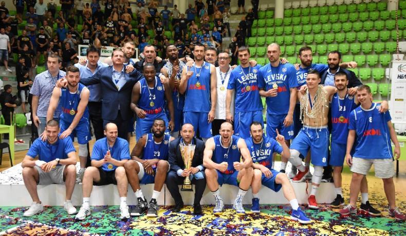 Екипът на НБЛ поздравява Левски Лукойл за шампионската титла