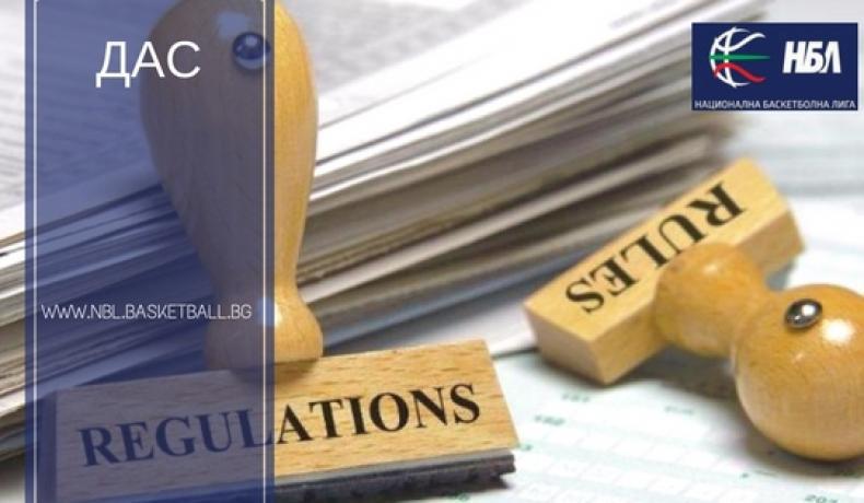 ДАС наложи глоби за технически нарушения и хвърлени предмети във финалите